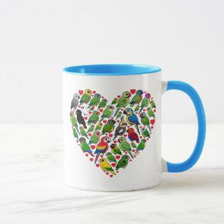 Mug Coeur de perroquet