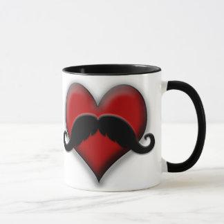 Mug Coeur de rouge de moustache