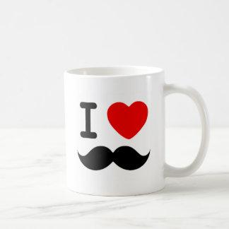 Mug Coeur I/moustaches/moustaches d'amour