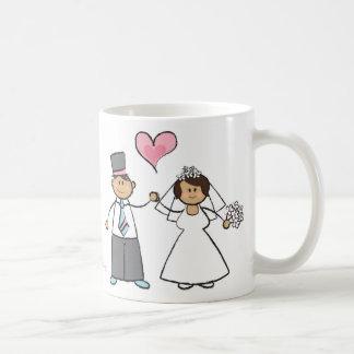 Mug Coeur mignon d'amour de marié de jeune mariée de