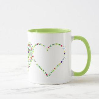 Mug Coeurs et fleurs
