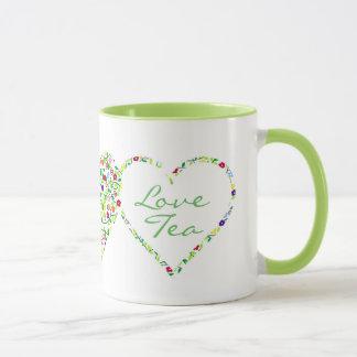 Mug Coeurs et fleurs, thé d'amour