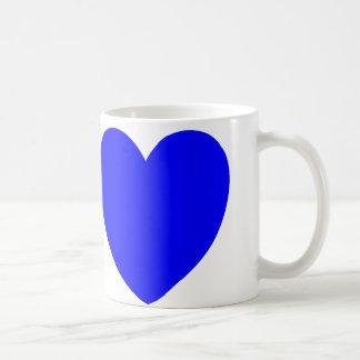 Mug Coeurs rouges et bleus, copie d'art abstrait