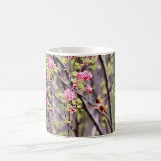 Mug Colibri et fleurs roses