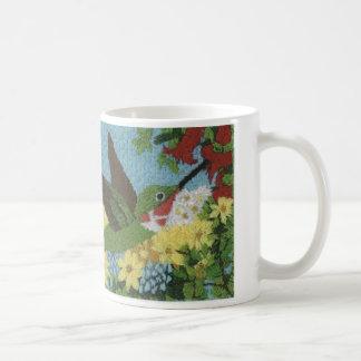 Mug Colibri reproduit d'une broderie de main