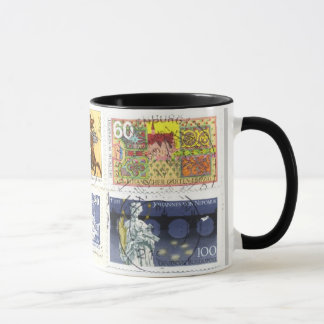 Mug Collage 1 d'Allemand-Timbres