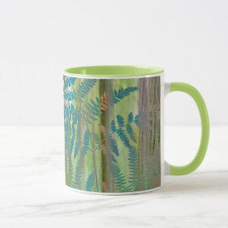 Mug Collage des fougères et de la forêt | Seabeck, WA