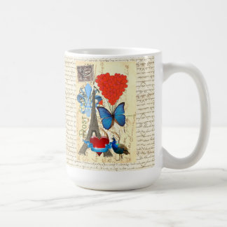 Mug Collage romantique de Paris