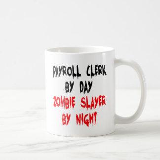 Mug Commis de feuille de paie de tueur de zombi