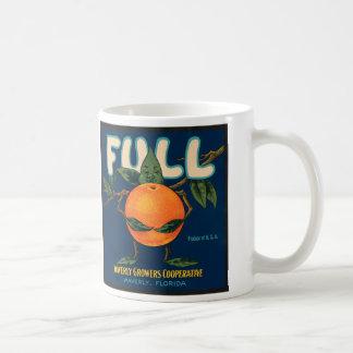 Mug Complètement - étiquette orange de caisse
