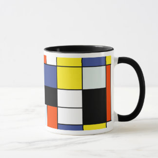 Mug Composition A - art moderne abstrait en Piet