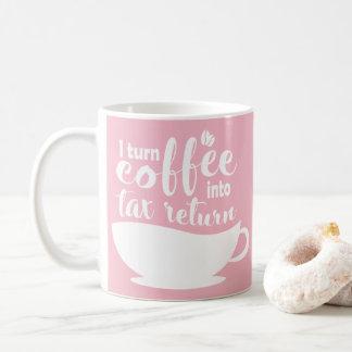 Mug Comptable rose je transforme le café en