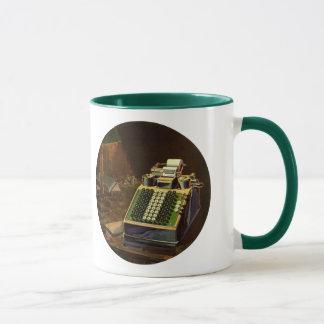 Mug Comptable vintage d'affaires, machine à