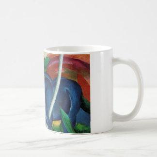 Mug conception bleue de chevaux de marc de Franz