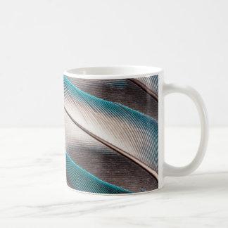 Mug Conception bleue de plume d'inséparable
