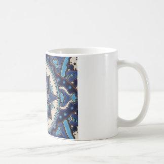 Mug Conception bleue et blanche d'art turc vintage de
