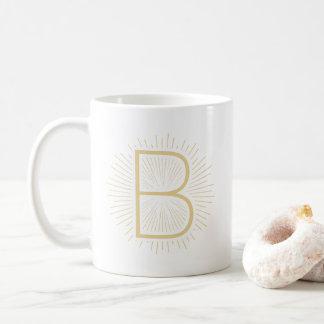Mug Conception brillante de rayons de lettre de