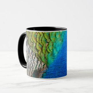 Mug Conception colorée de nature des plumes IV de paon