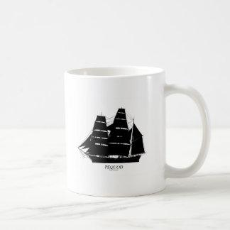 Mug conception de noir de bateau de pequod