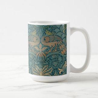 Mug Conception de paon de William Morris et de textile