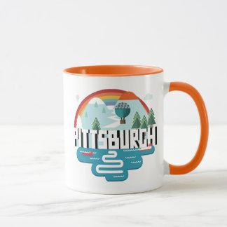 Mug Conception de Pittsburgh, paysage urbain de la