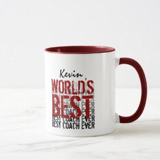 Mug Conception grunge moderne du meilleur entraîneur