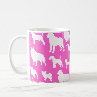 Mug Conception mignonne et chic de silhouette de chien