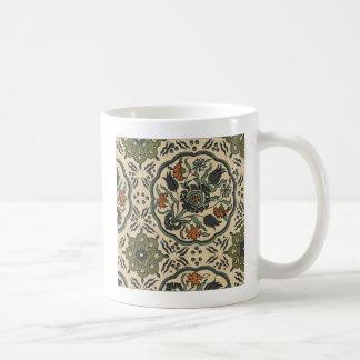 Mug Conception persane florale décorative de tuile