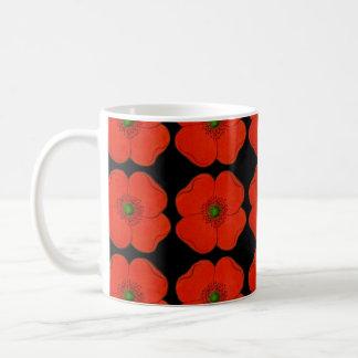 Mug Conception rouge de fleurs de pavot - pavots de