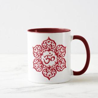 Mug Conception rouge florale d'Aum