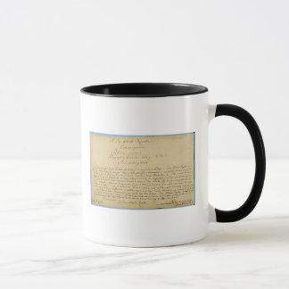 Mug Concerts de Brandenburger de dévouement manuscrit