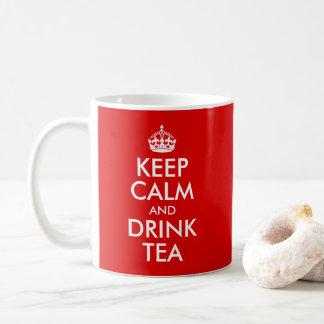 Mug Concevez vos propres gardent le calme et boivent