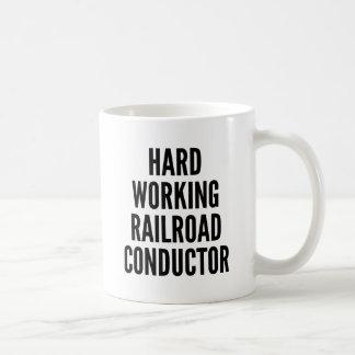 Mug Conducteur fonctionnant dur de chemin de fer