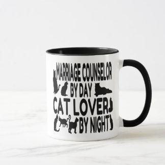 Mug Conseiller de mariage d'amoureux des chats
