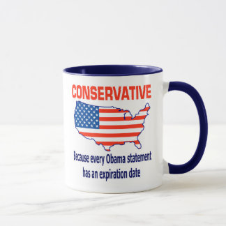 Mug Conservateur - anti Obama