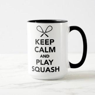 Mug Conservez la courge de calme et de jeu