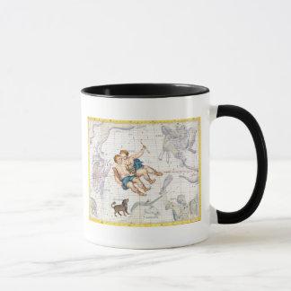Mug Constellation de Gémeaux avec le mineur de Canis,