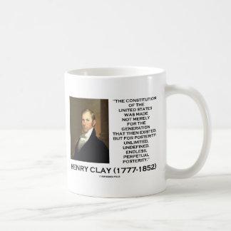 Mug Constitution de Henry Clay de postérité des
