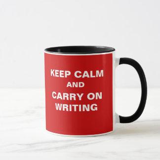 Mug Continuez écrire le slogan drôle de journaliste