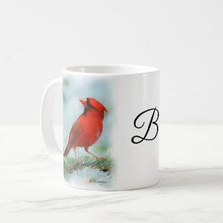 Mug Copie cardinale rouge personnalisée