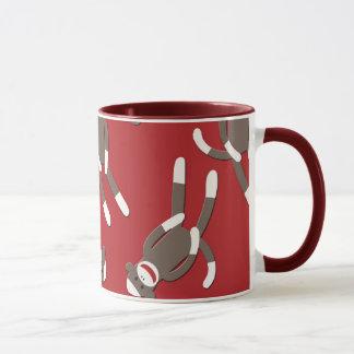 Mug Copie rouge de singe de chaussette