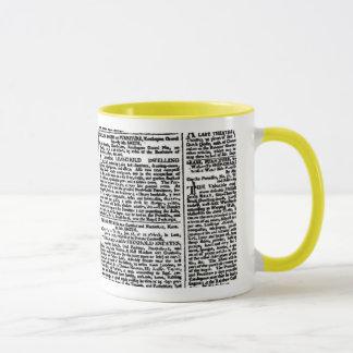 Mug Copie vintage de journal