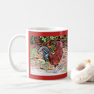 Mug Coq de rouge d'île de Rhode