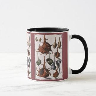 Mug Coquilles vintages de mer de coquillages, animaux