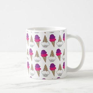 Mug Cornets de crème glacée frais et colorés