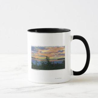 Mug Coucher du soleil au-dessus du lac, Adirondack Mts