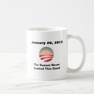 Mug Coucher du soleil et changement d'Anti-Obama