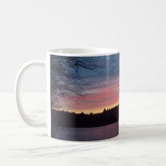 Mug Coucher du soleil, étang de Walden, croissant de