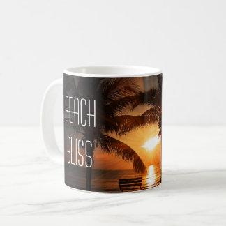 Mug Coucher du soleil tropical et palmiers de bonheur