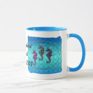 Mug Course bleue d'hippocampe